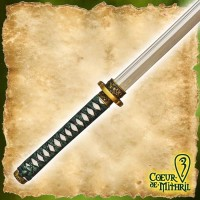 Larp Weapon Katana 109cm Green Handle