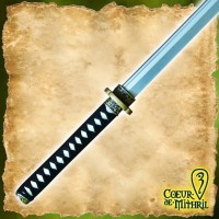 Larp Weapon Katana 109cm Black Handle