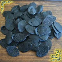 Écailles de cuir Noir