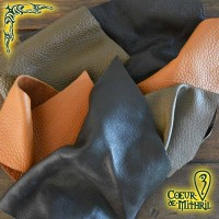 Leather Scraps Mixed Brown Batch 10lbs (4,5kg)