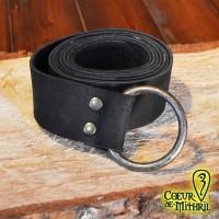 LARP Medieval Belt Black Ring