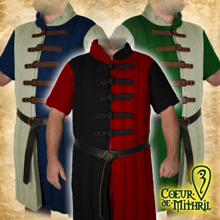 Medieval Viking Blue Color Gambeson For Armor Accessories Clothing